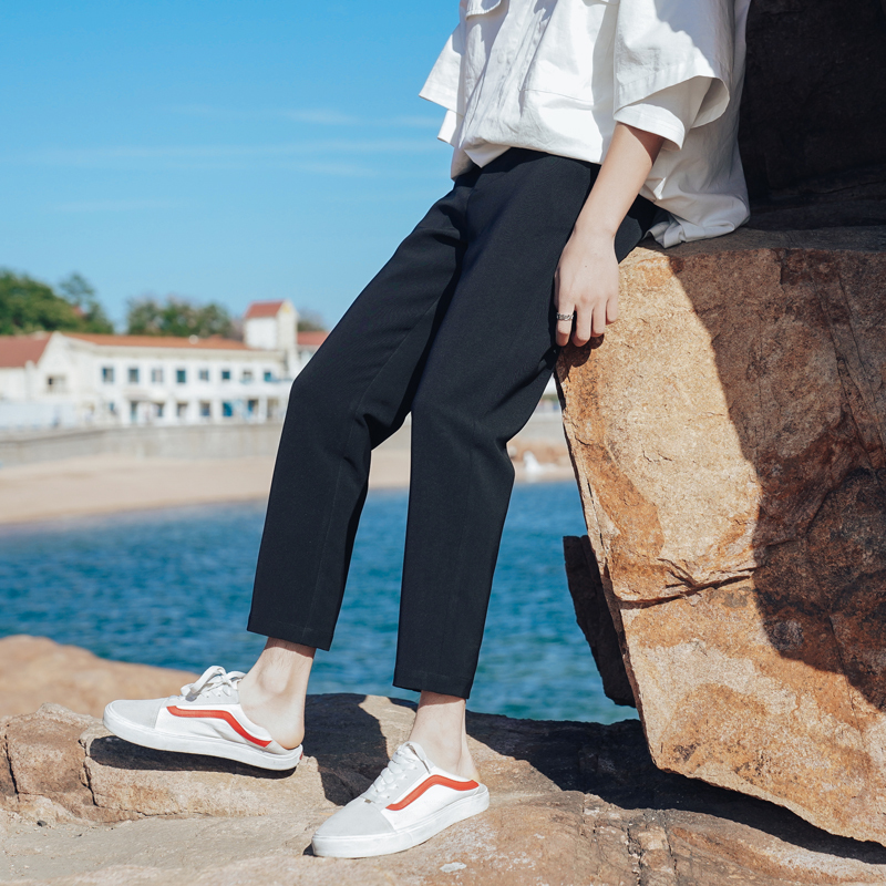 Men 39 s Casual Pants 2019 Spring New Fashion Urban Business Casual Straight Trousers Youth Popular Casual Pants Youth Casual Pants in Casual Pants from Men 39 s Clothing