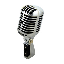 Professional Wired Vintage Classic Microphone Good Quality Dynamic Moving Coil Mike Deluxe Metal Vocal Old Style Ktv Mic