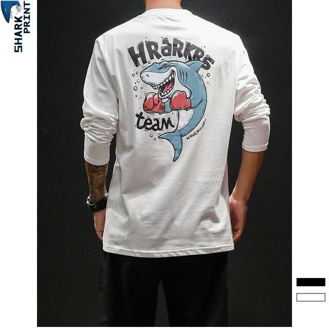 SharkPrint de dibujos animados tiburón chaqueta con capucha coreana  Harajuku estilo adolescente Sudadera con capucha de 80ea9b01729