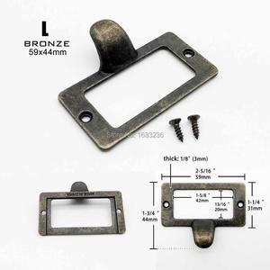 Image 5 - Małe duże ciężkie antyczne mosiężne czarne meble metalowe do szafki szuflady skrzyni przypadku etykieta uchwyt do holowania plik etykieta z imieniem uchwyt ramki