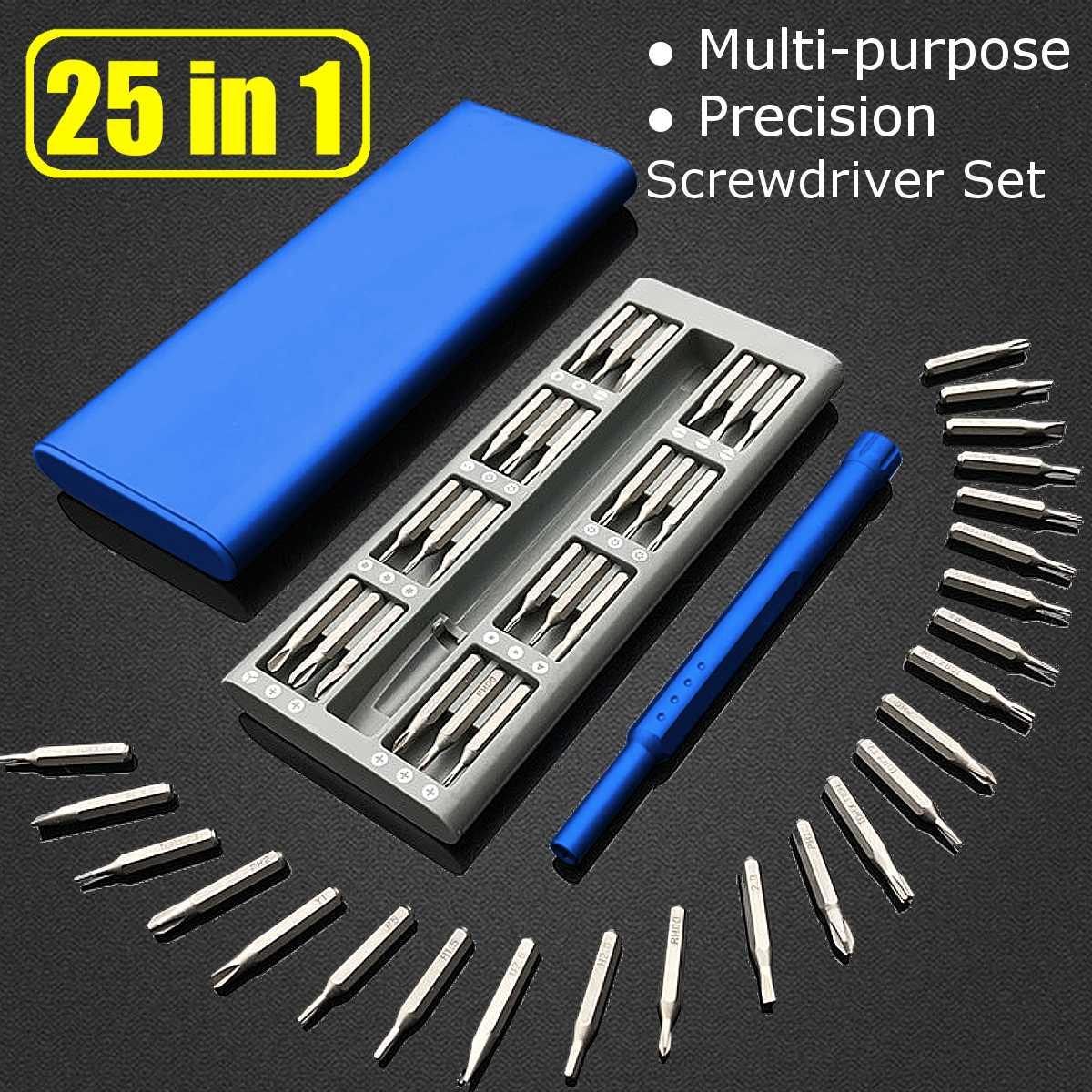 Xiaomi Mijia Wiha Daily Use Blue Mini Screwdriver Kit 25 Precision Magnetic  Bits Box Screw Driver xiaomi Smart Home Set