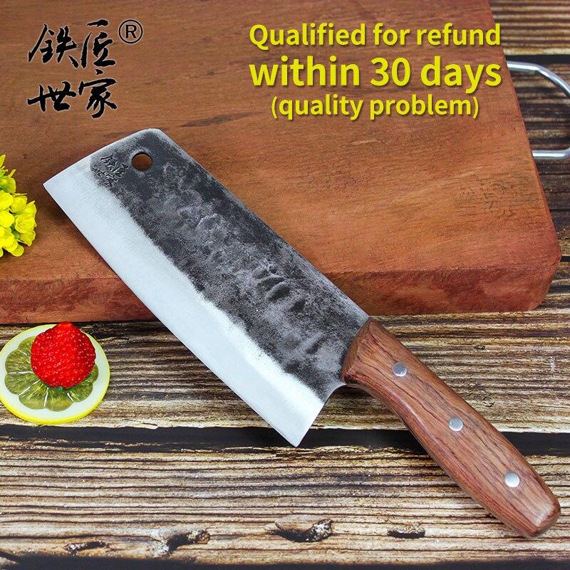 Couteau de cuisine couteau de chef couteau de tranchage multifonctionnel en acier inoxydable couteau de cuisine chinois fait à la main