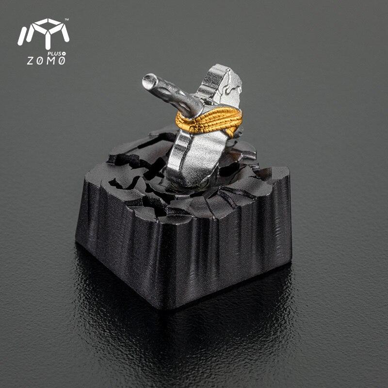 1 pc ZOMO pierre marteau aimant séparation personnalité originale bouchon de clé plein métal translucide mécanique clavier Keycap