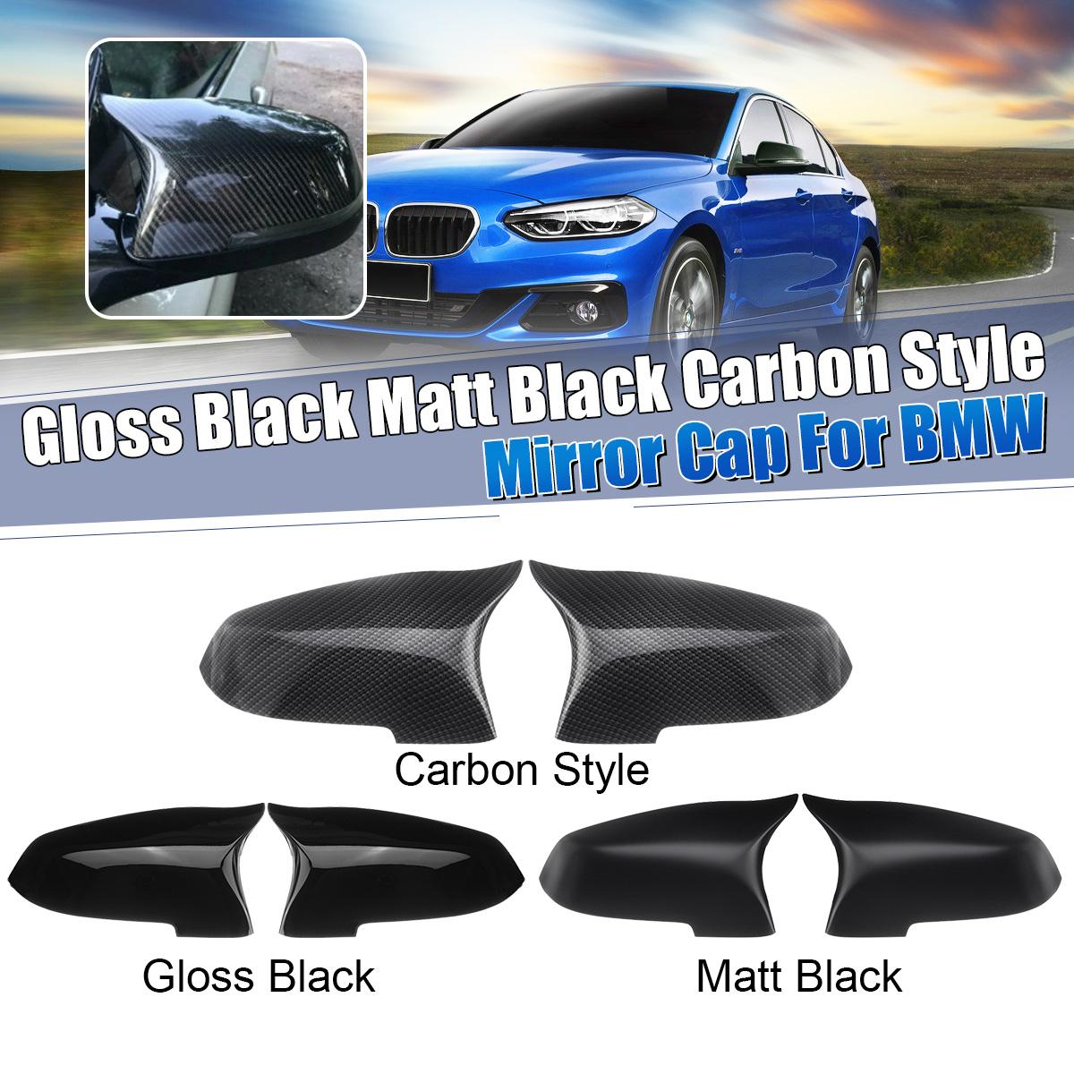 Pair Side Rearview Mirror Cover Cap For <font><b>BMW</b></font> 5 6 7 Series F10 F18 <font><b>F11</b></font> F06 F07 F12 F13 F01 2014 <font><b>2015</b></font> 2016 image
