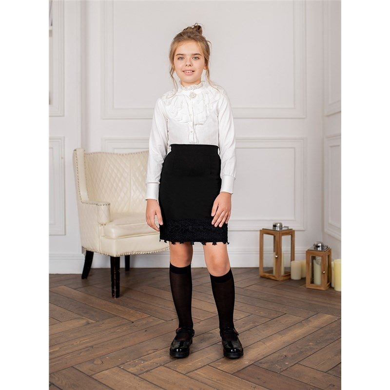 [Available with 10.11] Skirt knitted girls skirt with slit