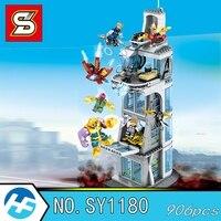 Super heros The Avengers Stark Tower Thanos Iron Man Building Blocks Bricks Compatible legoinset 76038 SY 1180 Model toy