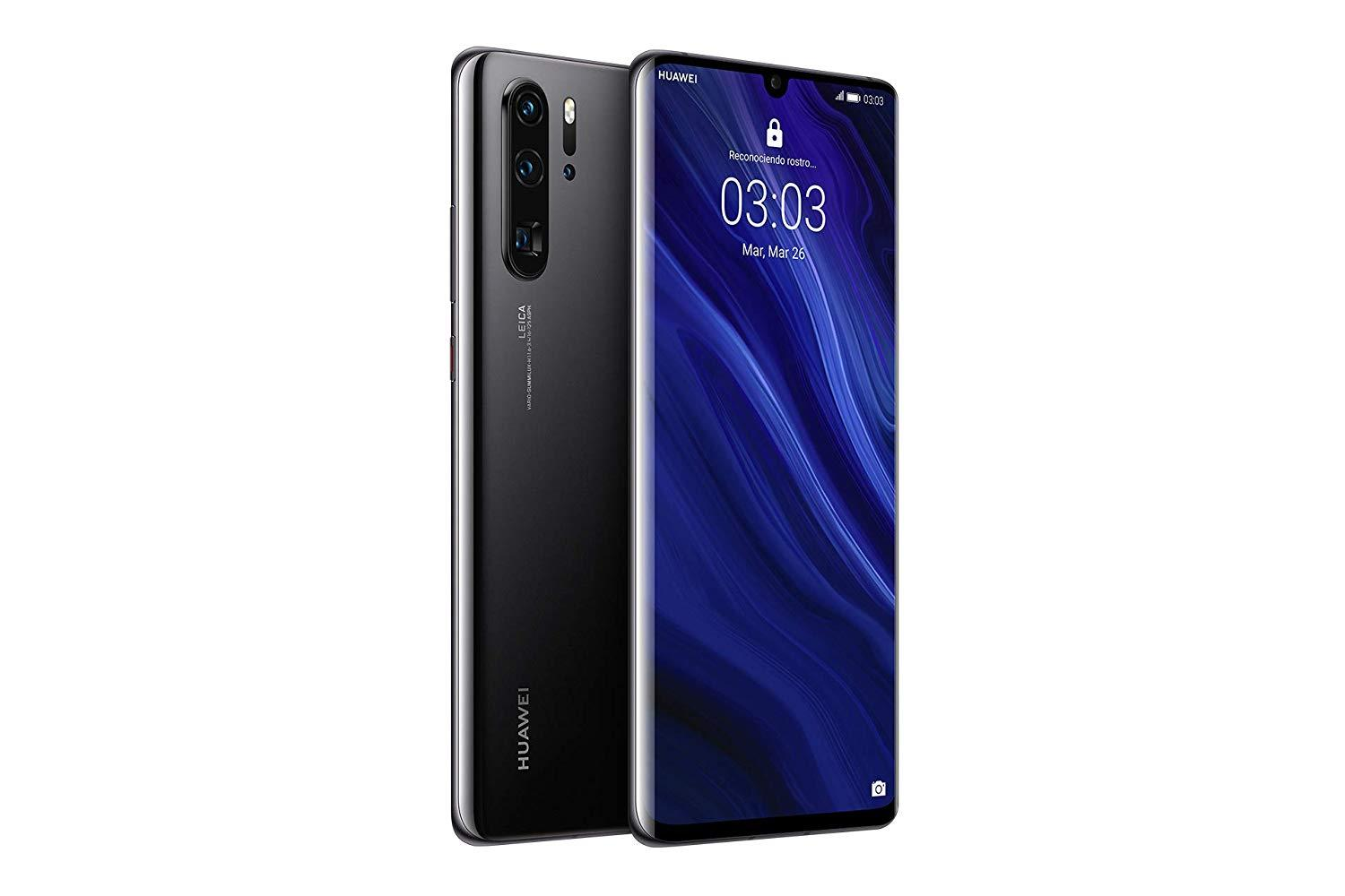 "Huawei P30 Pro, Black Color (Black), Dual SIM, 12 8GB Memoria Internal, 8GB RAM, Screen 6.47 "", Kirin 980 Octa"