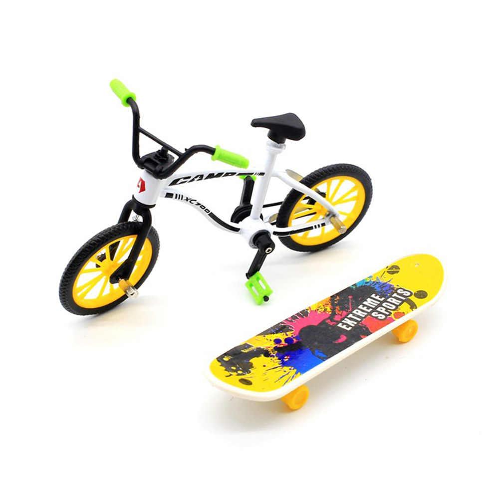 1 комплект скейтборд и модель велосипеда прочный Забавный Мини Сплав украшения игрушка для скейтборда для детей