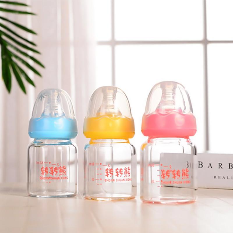 Newborn 60ML Borosilicate Glass Nursing Bottle Baby Standard Bottleneck Juice Small Feeding Bottle For Baby Feeding Milk Water