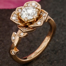 925 Silver Jewelry Diamond Ring Rose Gold Rose Ring Women's Zircon Costume Jewelry rings stainless steelB2206 925 silver jewelry diamond ring rose gold and silver topaz malachite rings detachable two pieces of men s jewelry ringenb773