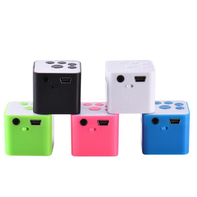 Mini altavoz pequeño altavoz cable azul MP3 reproductor de música apoya 32 GB tarjeta Micro SD TF Coche Oficina Baño