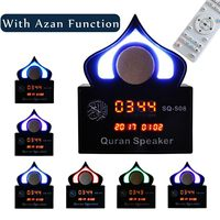 Wireless Colorful Light LED Clock bluetooth Ramadan Remote Control Quran Speaker Azan Islamic Muslim MP3 Player Koran Translator