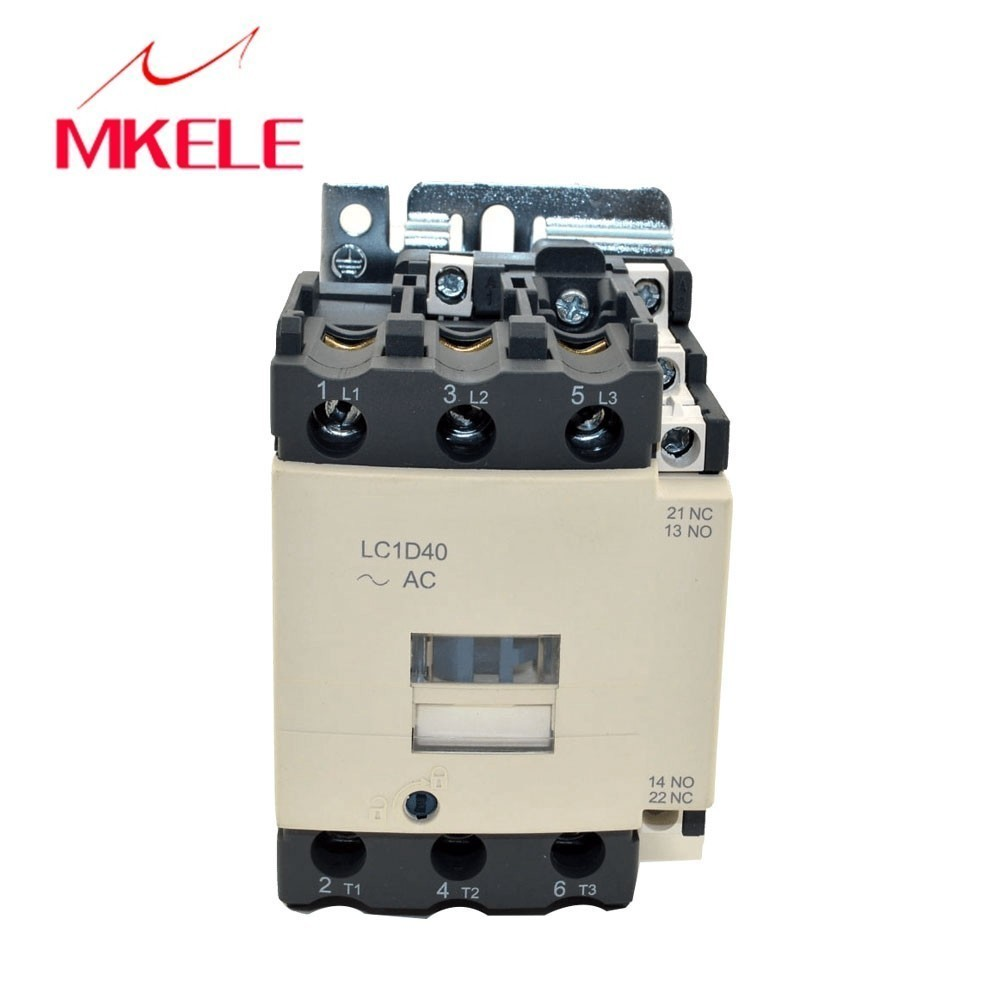 LC1-D40 M7C 3P+NO+NC telemecanique contactor 220V/380V 3phase electrical contactor types with 85% silver contactsLC1-D40 M7C 3P+NO+NC telemecanique contactor 220V/380V 3phase electrical contactor types with 85% silver contacts