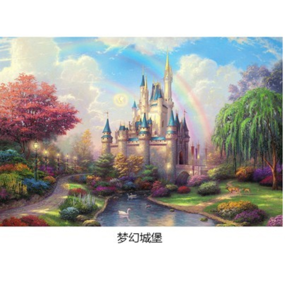 Dubbi Paper Puzzle 1000 pieces Noctilucent Luminous Puzzle for children educational toys Puzzle game jigsaw Puzzle Free shipping