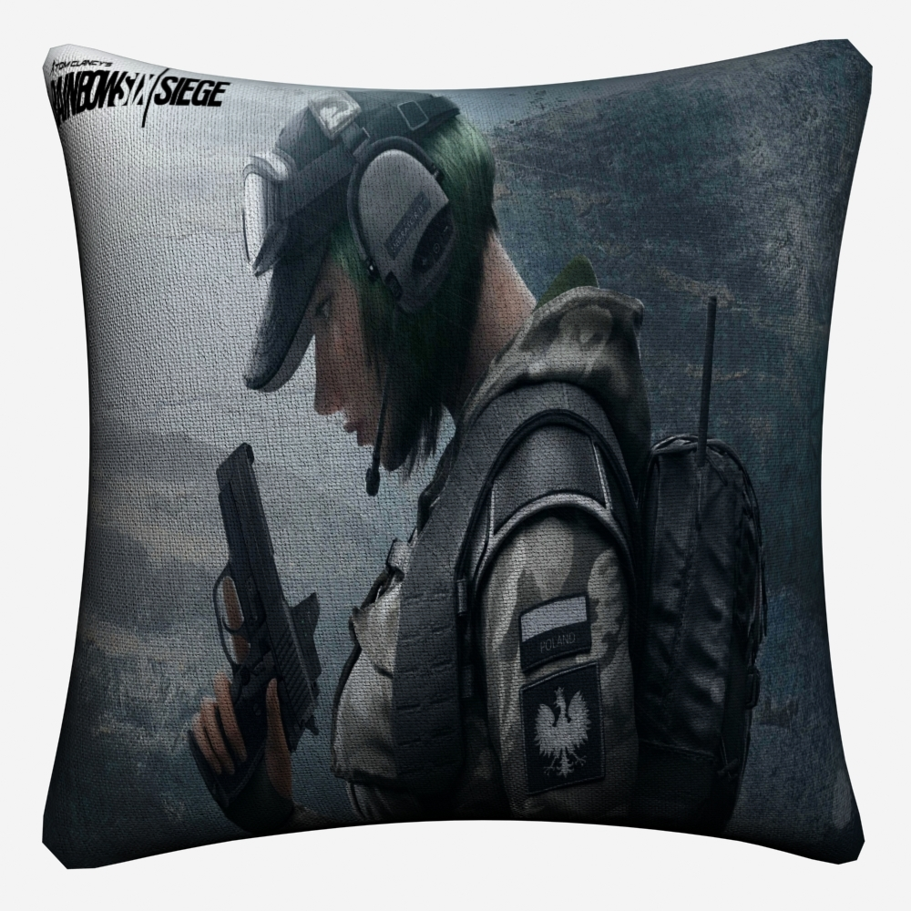 Rainbow Six Siege Tom Clancy 39 s Game Decorative Linen Cushion Cover For Sofa Chair 45x45cm Throw Pillow Case Home Decor Almofada in Cushion Cover from Home amp Garden