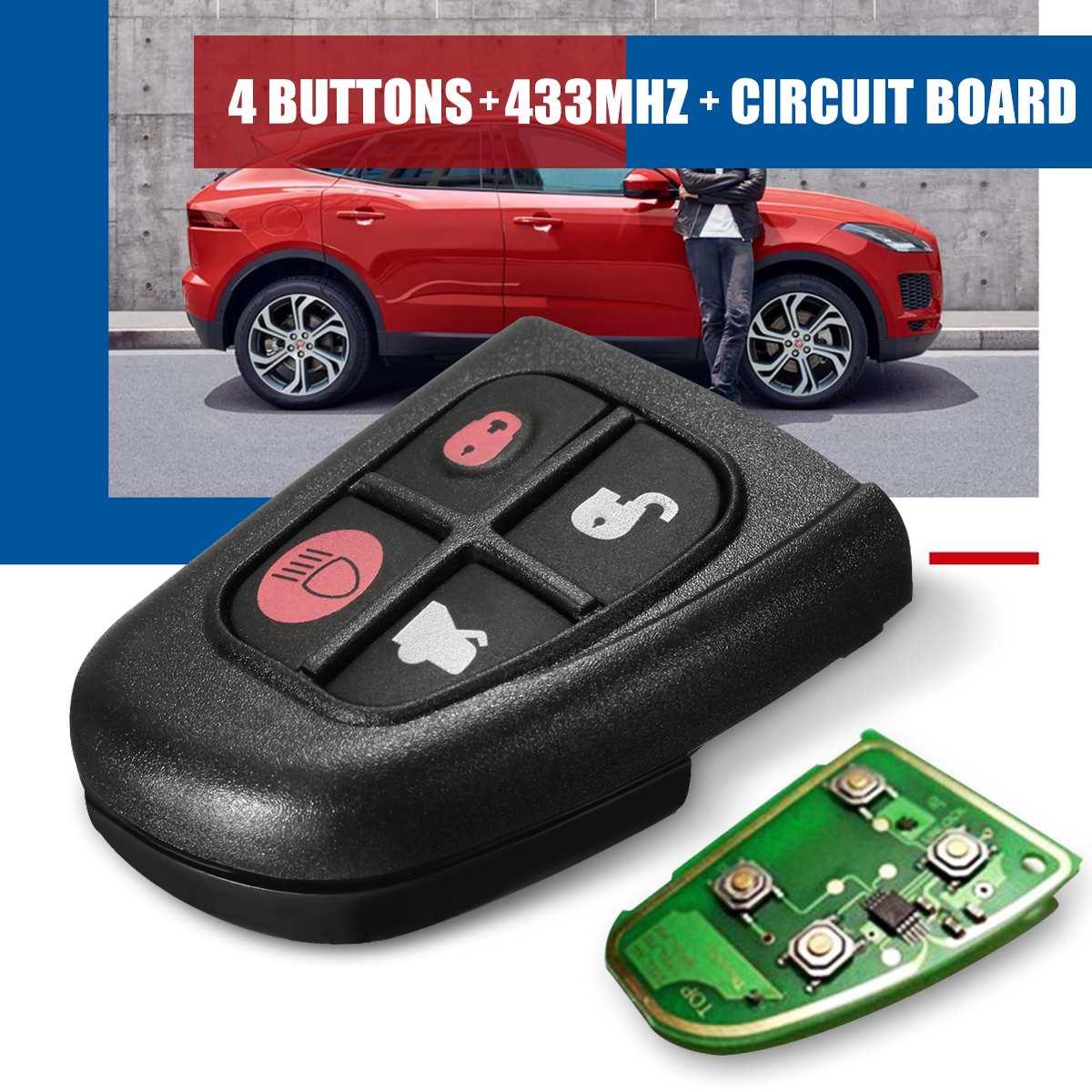 Accessoires de voiture à distance Flip voiture clé Shell clé Case couverture Fob remplacement Shell 4 boutons pour JAGUAR XJ8 S TYPE X TYPE