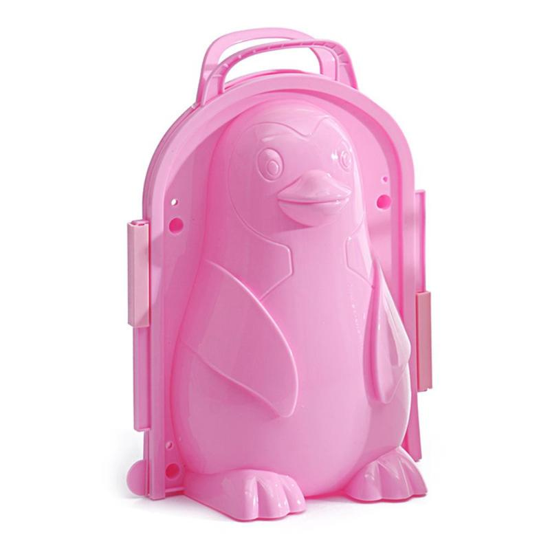 Cartoon 3D Penguin Plastic Maker Mold Kids Winter Outdoor Snow Sand Mould Pudding Beach Play Sand And Snow Play
