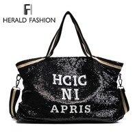 Herald мода блесток Для женщин сумки Женский Большой Ёмкость топ-ручка сумки аппликации женские сумки, повседневные торбы Курьерские Сумки Sac