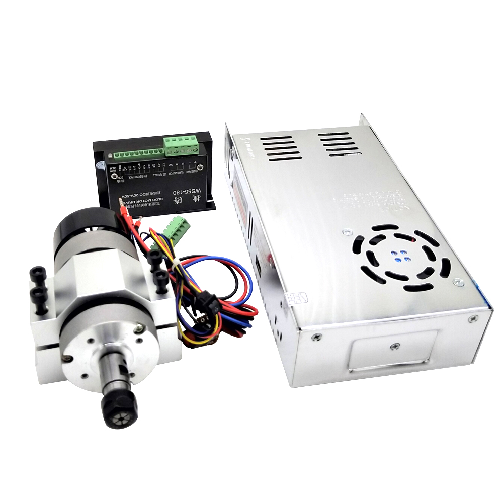 400W 12000rpm ER11 Chuck CNC Brushless Spindle Motor with Driver Speed Controller and Clamp DIY Engraving