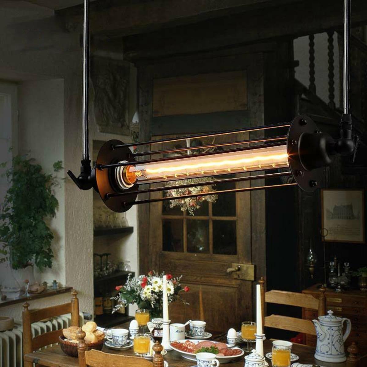 AC 110-240V Retro Vintage Flute Ceiling Lamp E27 Bulb Hanging Pendant Light Cafe Bar Restaurant Indoor Lighting Decor
