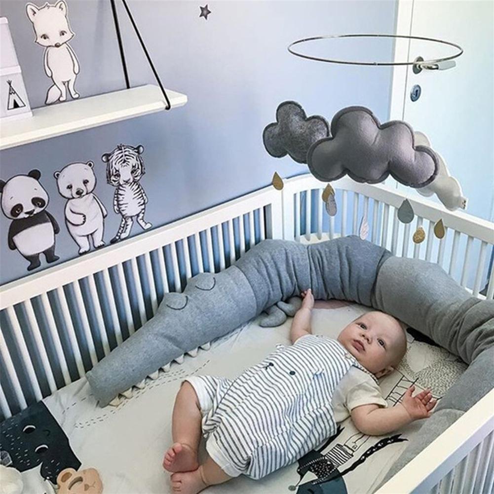 Kidlove 185cm Baby Pillow Children Crocodilian Pillow Cushion Baby Infant Bed Crib Fence Bumper