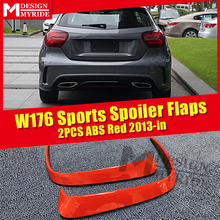 Fits For W176 Rear Bumper Canard Vent Rafts Splitter 2 Pcs Red Mercedes Benz A180 A200 A250 A45 Splitters 2013-in