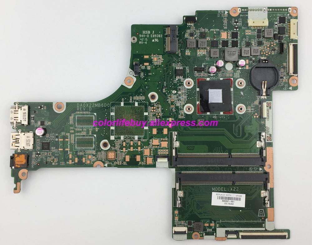 Подлинная 809397 601 809397 501 809397 001 Вт A4 6210 CPU DA0X22MB6D0 материнская плата для HP 17 G серии ноутбуков ПК-in Материнская плата для ноутбука from Компьютер и офис