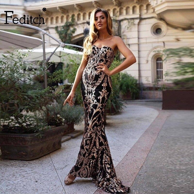 Feditch Sequin Long Maxi Dresses Women Off Shoulder Backless reflective dress Female Sleeveless Sheath Wrap Vestidos