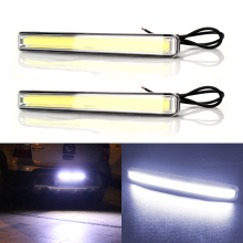 2pcs 12V COB Car Daytime Lights External Driving Fog Lamp Car-styling LED DRL Daytime Running Light Waterproof Car Day Light цена в Москве и Питере