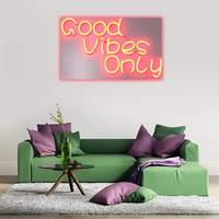 Good Vibes Only Neon Art знак светодиодный свет трубка ручной работы визуальный произведения Стена украшения Красочный Неон лампы Billboard 60 см х 35 см