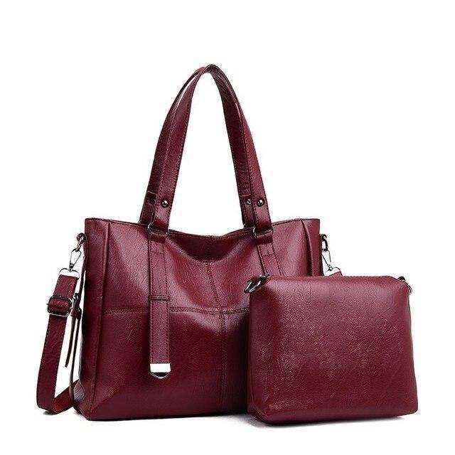 2 pc/s Lüks Çanta Kadın Çanta Tasarımcısı Kadın Deri omuzdan askili çanta Bayanlar El Çantası Vintage Çantalar Ve Çanta Ana Kesesi yeni