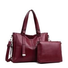 2 pc/s Luxury กระเป๋าถือผู้หญิงกระเป๋าออกแบบหนังผู้หญิงกระเป๋าสะพายสุภาพสตรีกระเป๋า Vintage กระเป๋าและกระเป๋าถือ Sac A หลักใหม่