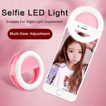 Selfie LED Ring Flash Light Portable Universal Phone Camera
