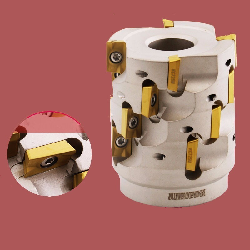Toolholder Numerical Control Corn Milling Cutter Plate Vertical Cutter Head 50 63 80 100 Side Milling Cutter Insert APMT16