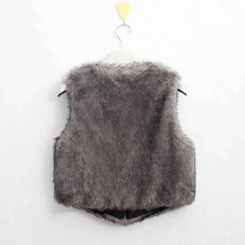 2018 Фирменная Новинка Модный Топ для женщин искусственный мех жилет куртка пальто без рукавов повседневное однотонная верхняя одежда мод
