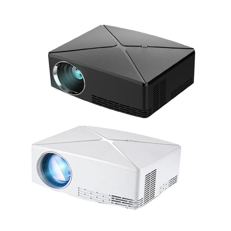 Portable Mini C80 1280x720P Resolution Projector Portable HD Video Beamer Home Theater for Office Cinema Black