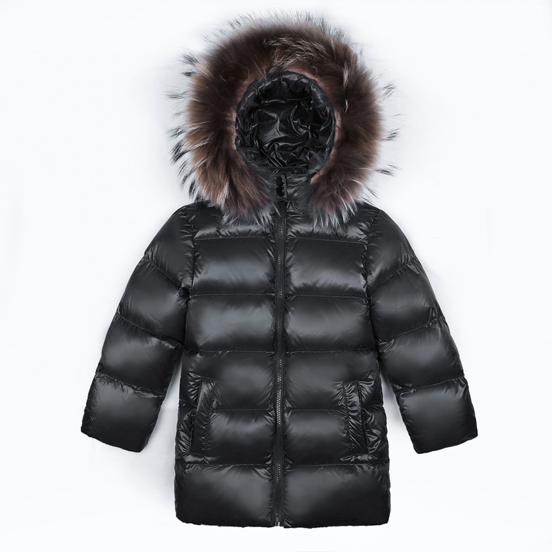 Kids White Duck Down Jackets Boys Winter Fur Hoodies Warm Clothes for Girls Solid Down Coats Toddler Long Jacket Real Raccon FurKids White Duck Down Jackets Boys Winter Fur Hoodies Warm Clothes for Girls Solid Down Coats Toddler Long Jacket Real Raccon Fur