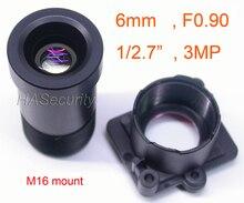"Камера Star светильник F0.90 с объективом 6 мм, формат 3MP 1/2.7 ""для датчика изображения IMX327,IMX307,IMX290,IMX291"