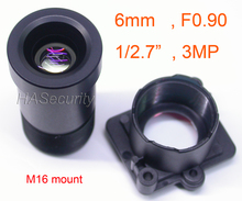 "Ster Licht F0.90 aparture 6mm LENs 3MP 1/2. 7 ""formaat voor beeldsensor IMX327, IMX307, IMX290, IMX291 camera PCB board module F0.9"