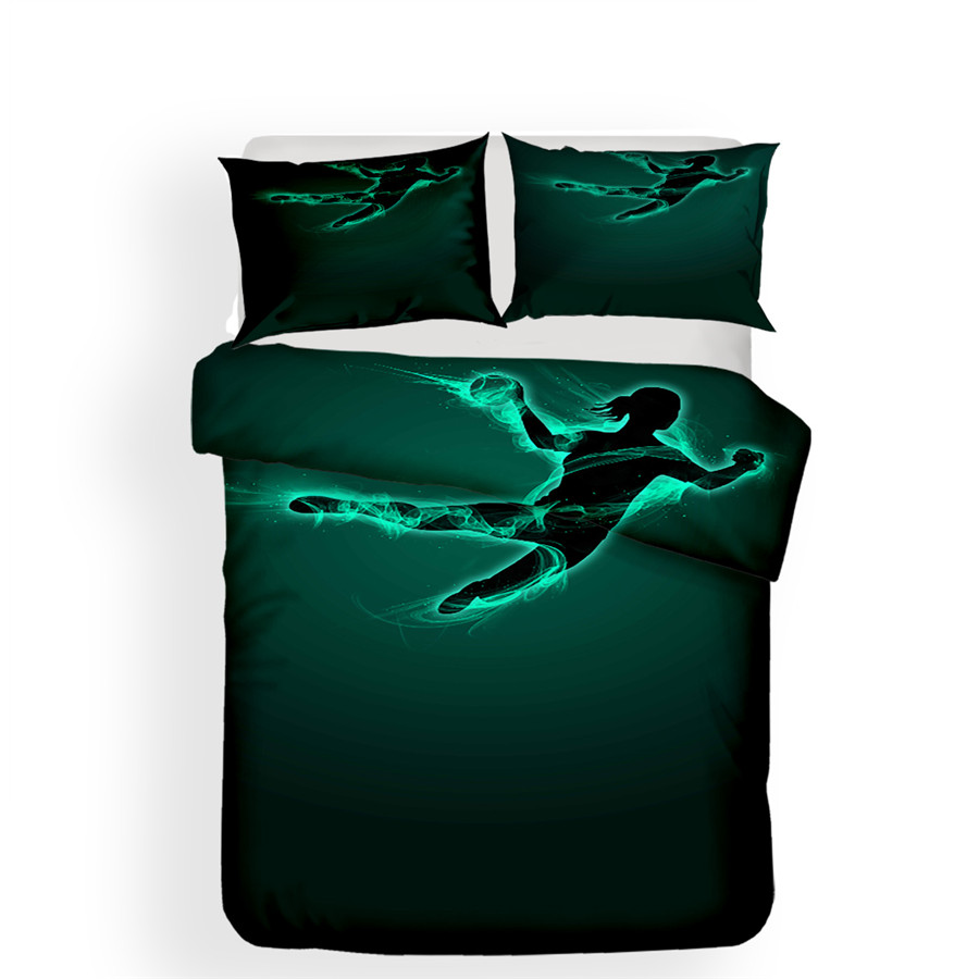 Image 2 - Bedding Set 3D Printed Duvet Cover Bed Set Basketball Home Textiles for Adults Lifelike Bedclothes with Pillowcase #LQ08-in Bedding Sets from Home & Garden