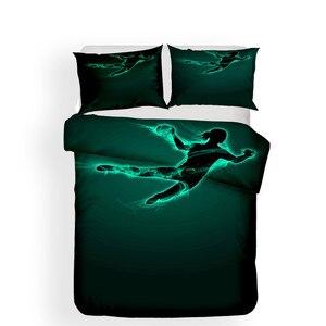 Image 2 - Zestaw pościeli 3D kołdra z nadrukiem pokrywa łóżko – zestaw do koszykówki tekstylia domowe dla dorosłych realistyczne pościel z poszewka na poduszkę # LQ08