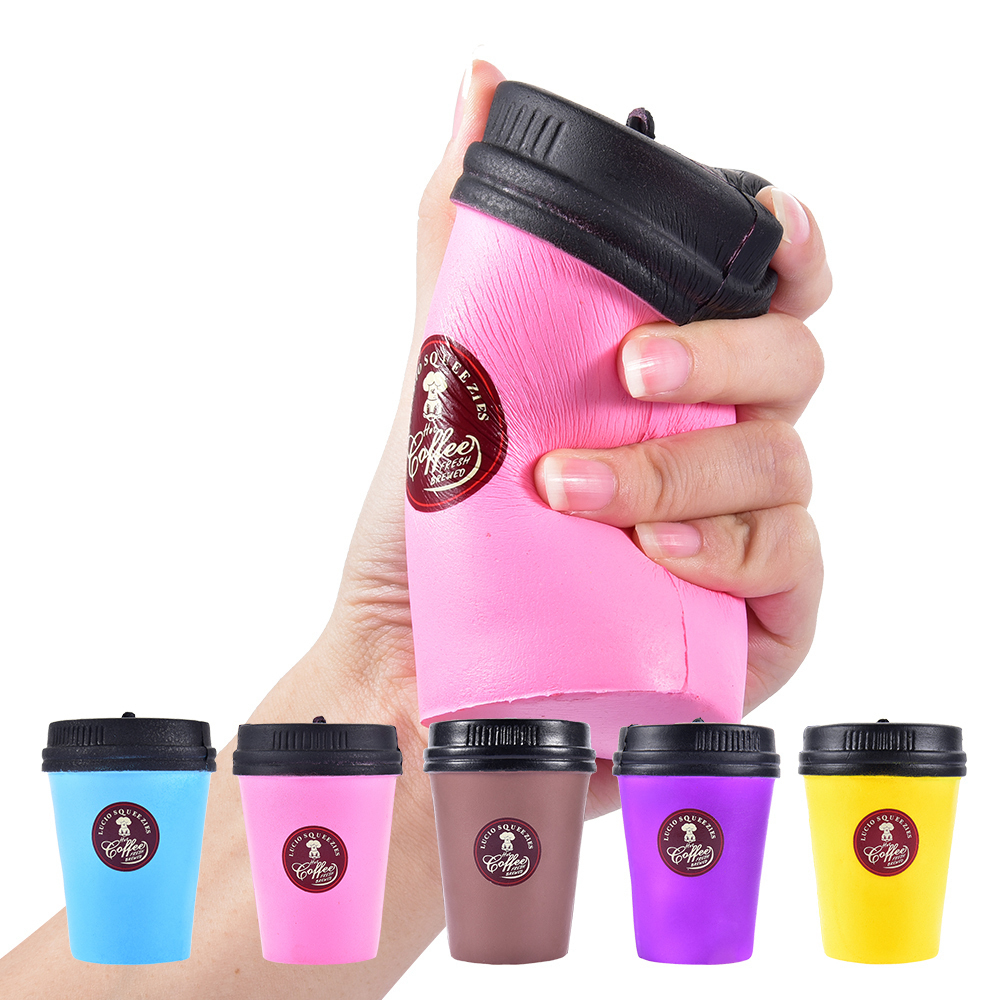 2018 New Squishy Slow Rising Coffee Cup Squishe Antistress Jumbo Squisy Prank Stress Relief Toys Gadget Anti-stress Fun Squeeze
