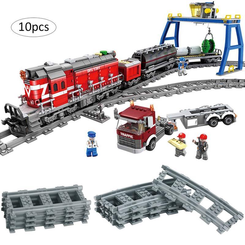 10 шт. поезд трек немощный трек прямой изогнутый трек Строительная игрушка электрический трек игрушка для детей запчасти