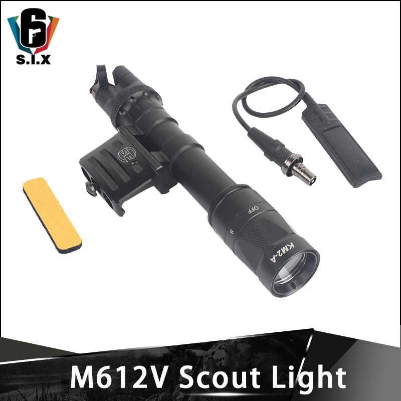 airsof tatico lanterna m612v scout luz wds07 montagem do interruptor com rm45 offset montagem picatinny ferroviario