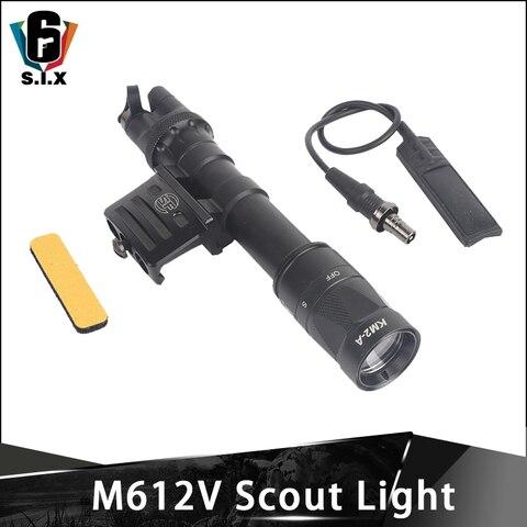 airsof tatico lanterna m612v scout luz wds07 montagem do interruptor com rm45 offset montagem picatinny