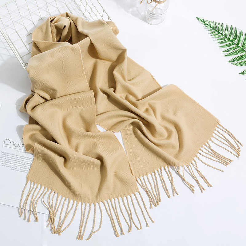 Женский шарф с кисточками, теплый кашемировый шарф высокого качества, 1 шт., зимний шарф из Пашмина, Лидер продаж