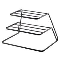 2 Tier Dish Rack Stainless Steel Kitchen Dish Drainer Cup And Dish Organizer Home Kitchen Accessories(Black)