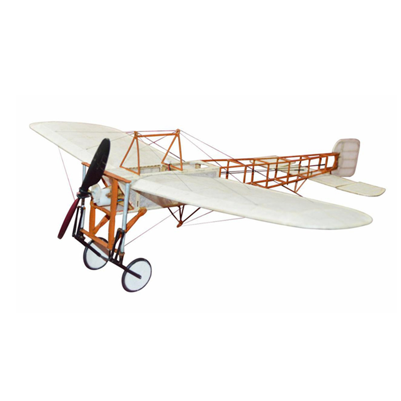 Bleriot XI 420mm Wingspan Wooden RC Airplane Aircraft Fixed Wing KIT/KIT+Power Combo for Children's DIY Toys Drone