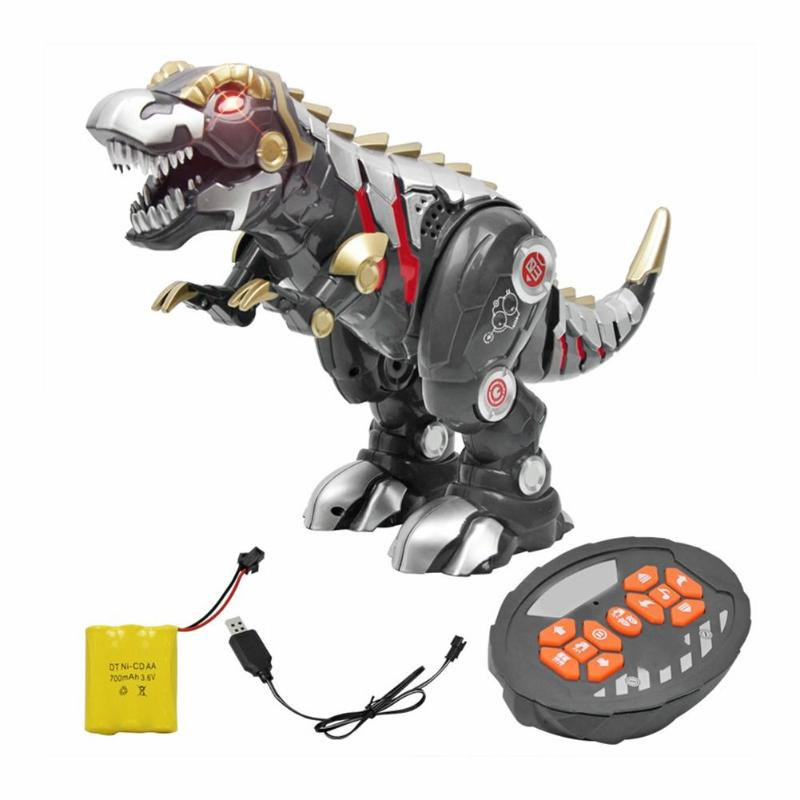 New Remote Control Dinosaur Electric RC Toys Walking Rechargeable Toy for Kids Boys with Light and Sound