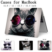 Чехол для ноутбука MacBook 13,3 15,4 дюймов для MacBook Air Pro retina 11 12 с защитной клавиатурой